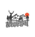 wanderlust 2 vector image vector image