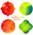 Watercolor frames templates vector image vector image