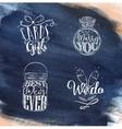 Wedding symbols blue vector image vector image