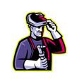 welder welding torch mascot vector image vector image