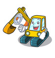with megaphone excavator character cartoon style vector image vector image