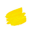 yellow blob isolated vector image vector image