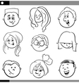 kids characters set vector image