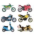 Motorcycle types multicolor motorbike ride speed vector image