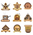 Retro Emblems Set vector image