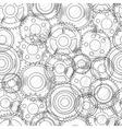 seamless texture with mechanical gear and cogwheel vector image