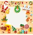 Christmas banner design greeting card vector image
