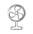 floor fan symbol vector image
