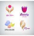 set of cosmetics spa beauty salon vector image