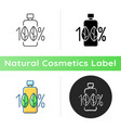 100 percent natural icon vector image
