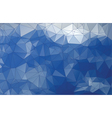 abstract blue triangle low poly background vector image vector image
