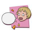 angry shouting girl vector image