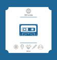 audio cassette icon vector image vector image