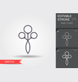 baby rattle toy line icon with editable stroke vector image