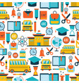 back to school seamless background pattern vector image