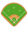 baseball field plan and formation players vector image vector image