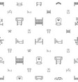 bed icons pattern seamless white background vector image vector image