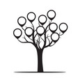 black tree with borders vector image vector image