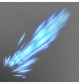 Blue abstract effect object burst EPS 10 vector image vector image