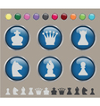 Button chess vector image