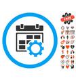 calendar settings icon with lovely bonus vector image