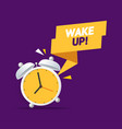 cartoon color alarm clock wake up concept vector image vector image