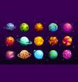 cartoon space planets fantasy alien galaxy