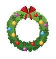 christmas crown icon vector image vector image