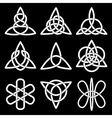 collection celtic knots vector image vector image