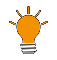 color silhouette image cartoon light bulb with vector image vector image