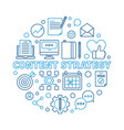 content strategy round outline modern vector image vector image