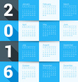 Design Print Template Calendar for 2016 Year Week vector image