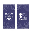 enjoy summer sea banner templates set summer time vector image vector image
