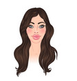 exaggerated lips a beautiful young woman vector image
