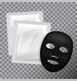 facial black mask cosmetics pack package vector image vector image