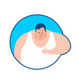fat thumbs up and winks emoji stout guy happy vector image vector image