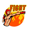 Fighting Punch vector image