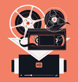Film Movie Icons vector image vector image