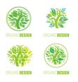 floral logo set1 vector image vector image