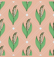 flower seamless pattern with lily of a valley vector image