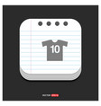 football kit icon gray icon on notepad style vector image