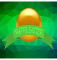 Gold Easter Egg vector image vector image