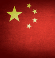 Grunge Flag Of China vector image vector image