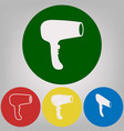 hair dryer sign 4 white styles of icon at vector image vector image