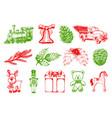 hand drawn christmas toys vector image vector image