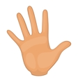 Hand icon cartoon style vector image