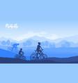 happy family riding bike vector image