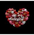 happy valentines day design black background vector image vector image