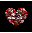 Happy Valentines day design Black background with vector image vector image