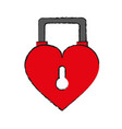 heart shape safety lock icon image vector image vector image